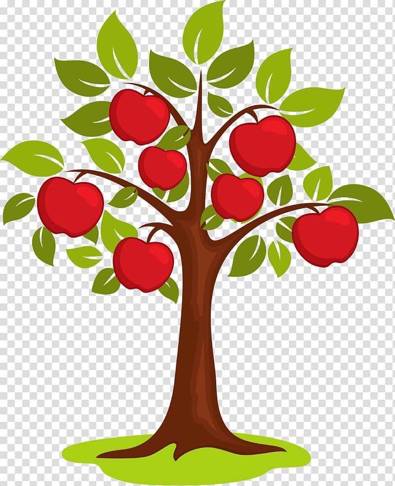 Apple tree illustration, Cartoon , cartoon apple tree.