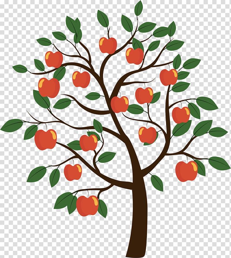 Apple tree illustration, Fruit tree Euclidean , apple tree.
