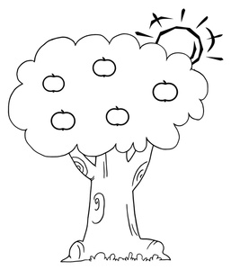 99+ Tree Black And White Clipart.