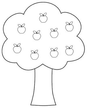 Clipart apples and apple tree.