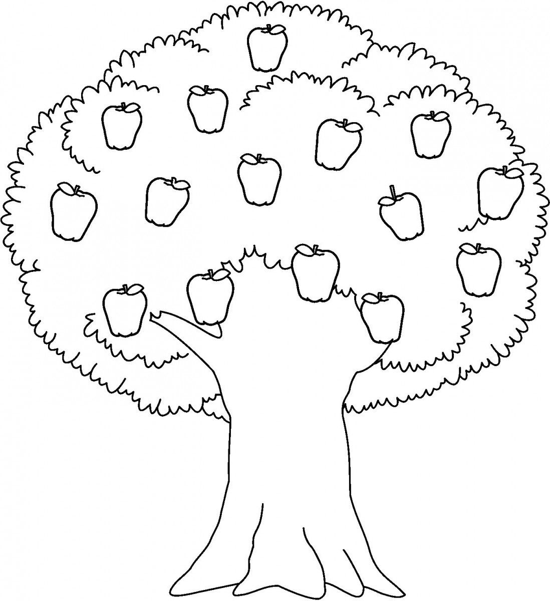 Apple Black And White Apple Trees Clipart Black And White throughout.