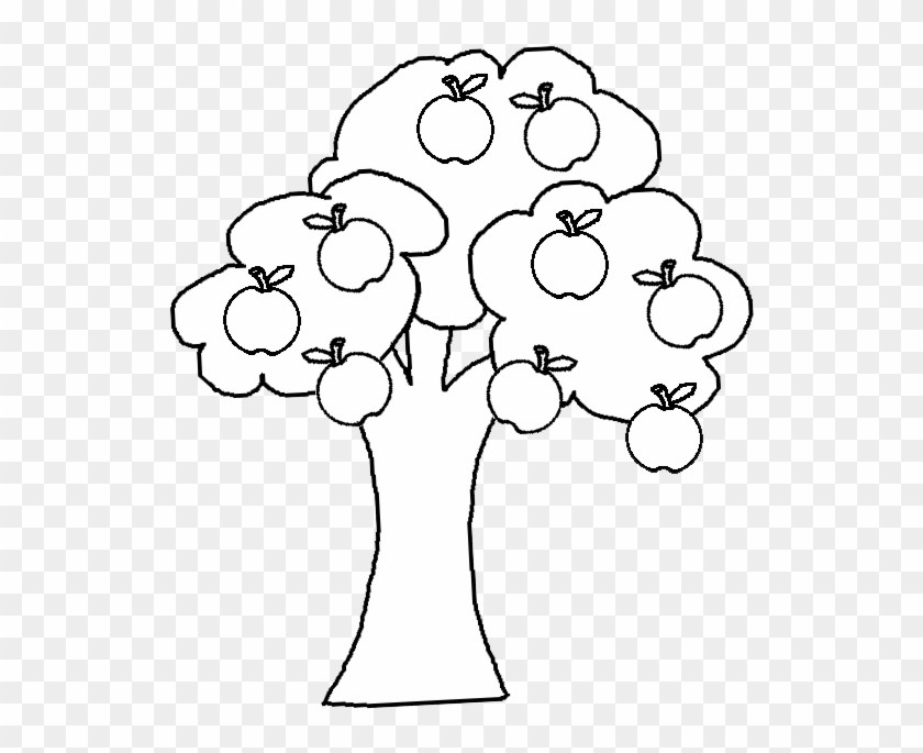 Apple tree clipart black and white 2 » Clipart Portal.