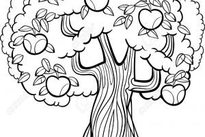 Apple tree clipart black and white 1 » Clipart Portal.