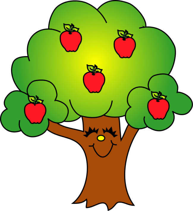 Apple's with Apple Tree Clip Art.