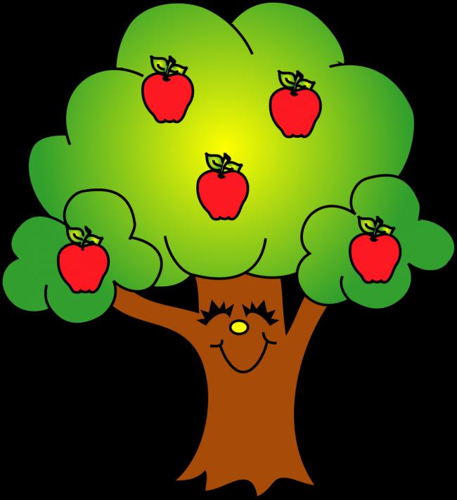 Apple's with Apple Tree Clip Art.