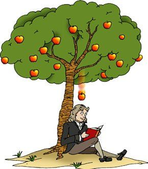 A young Isaac Newton was sitting under an apple tree when he.