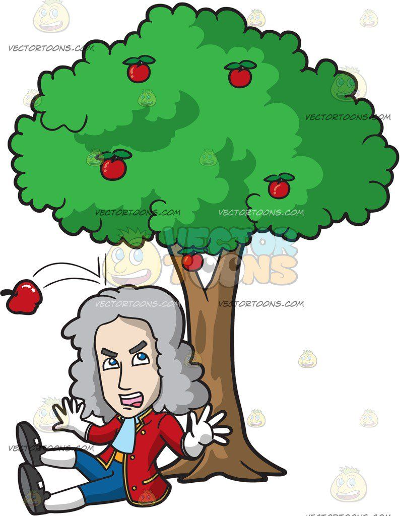 Isaac Newton Gets Hit On The Head By A Falling Apple 1.