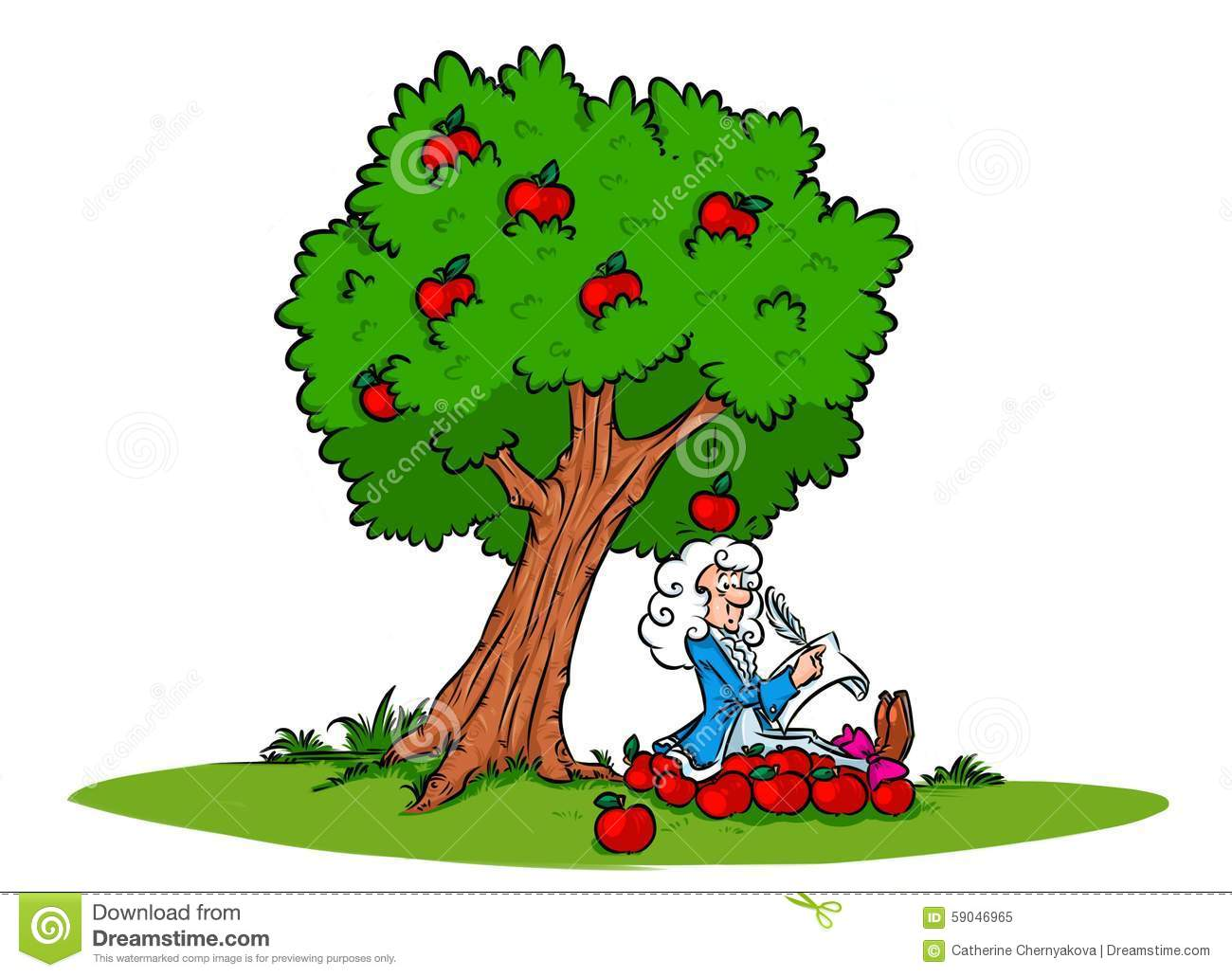 Newton Apple Tree Clipart.
