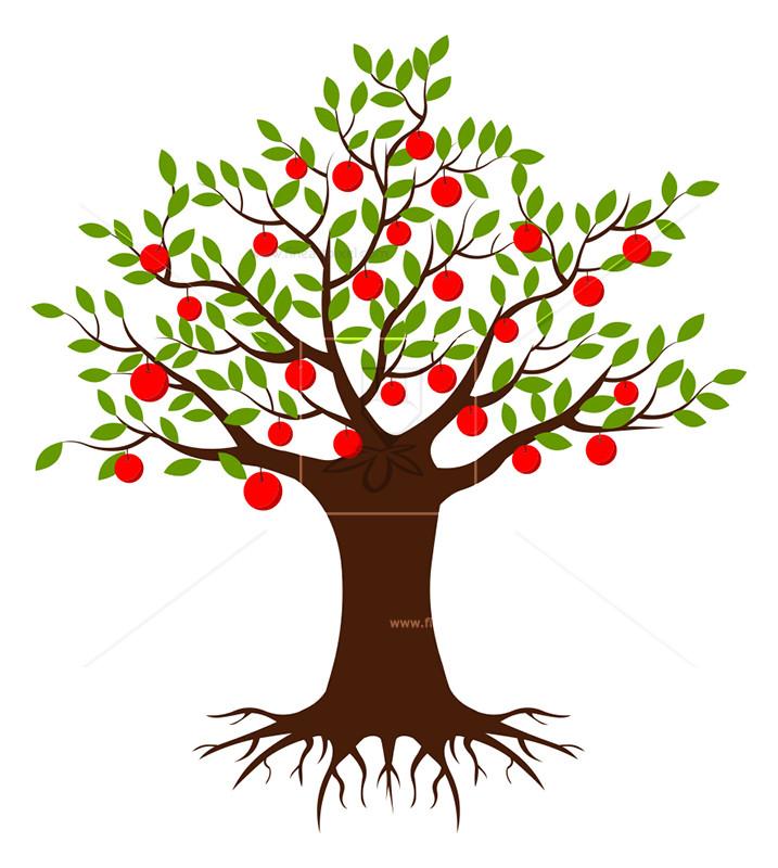 Apple Tree Vector.