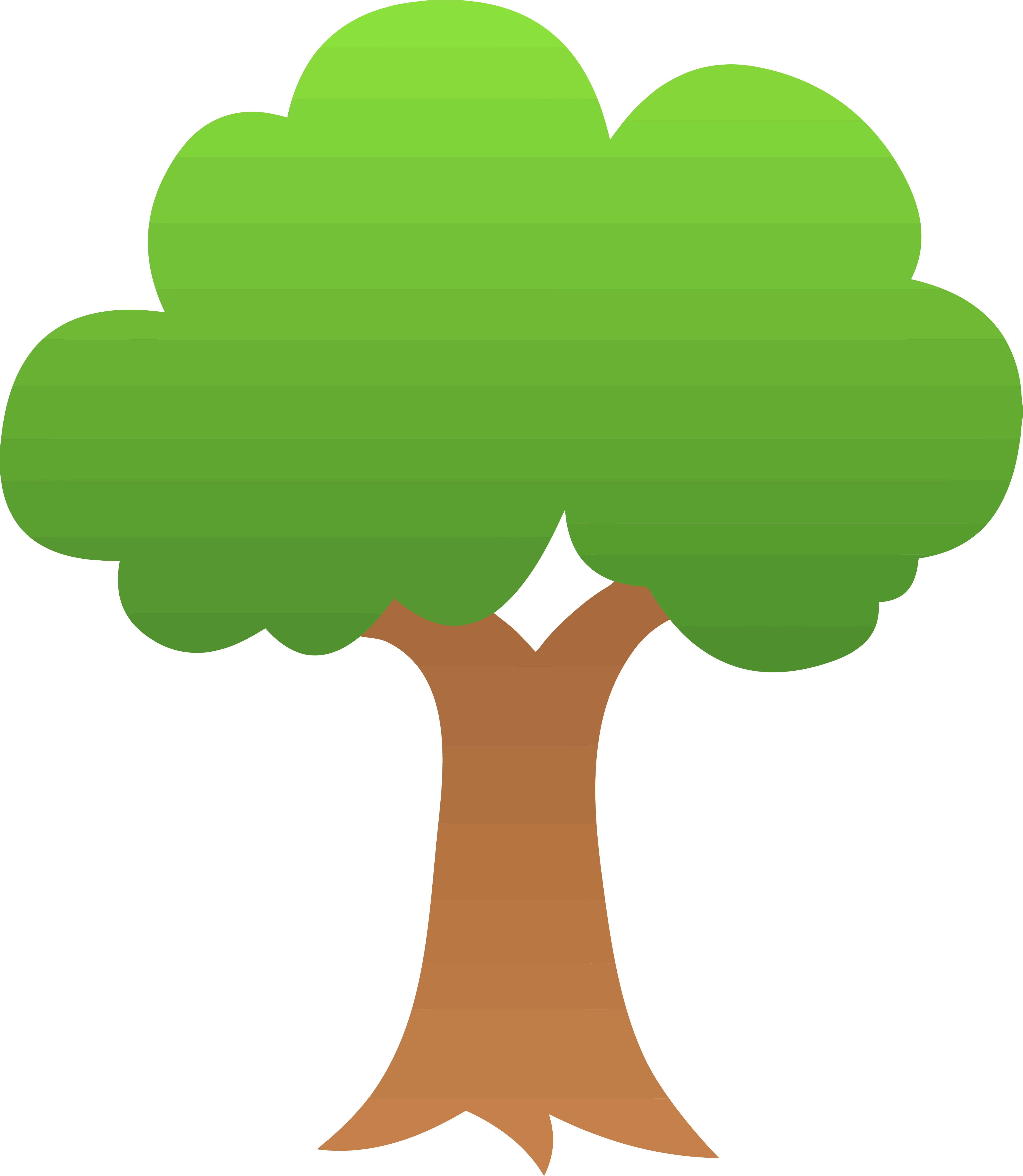Gradient Apple Tree Clipart Png.