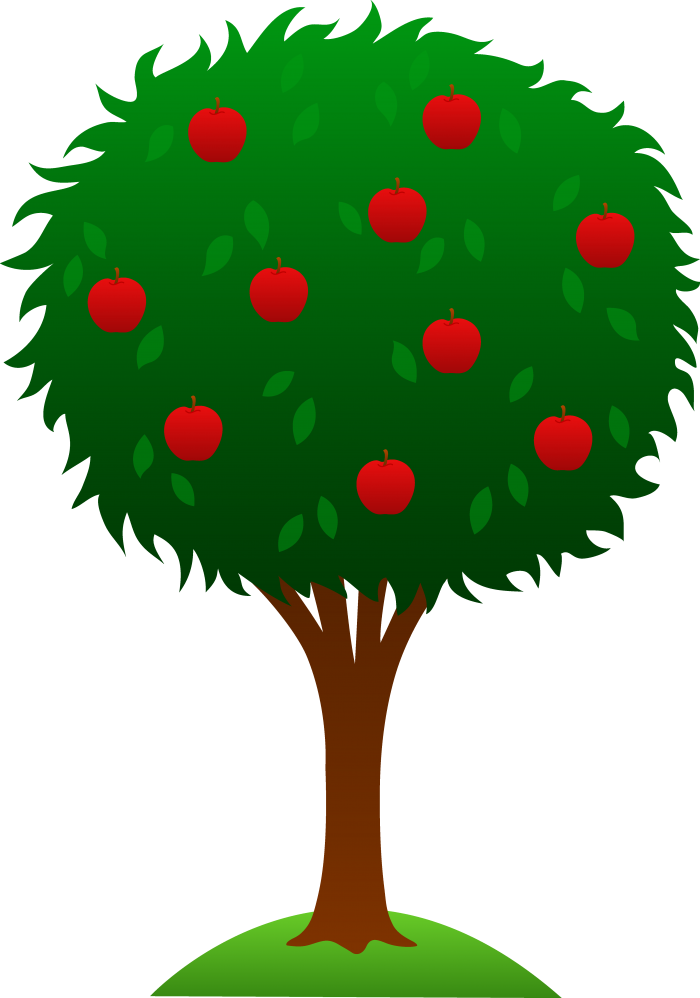 Apple Tree Clipart Png Vector, Clipart, PSD.