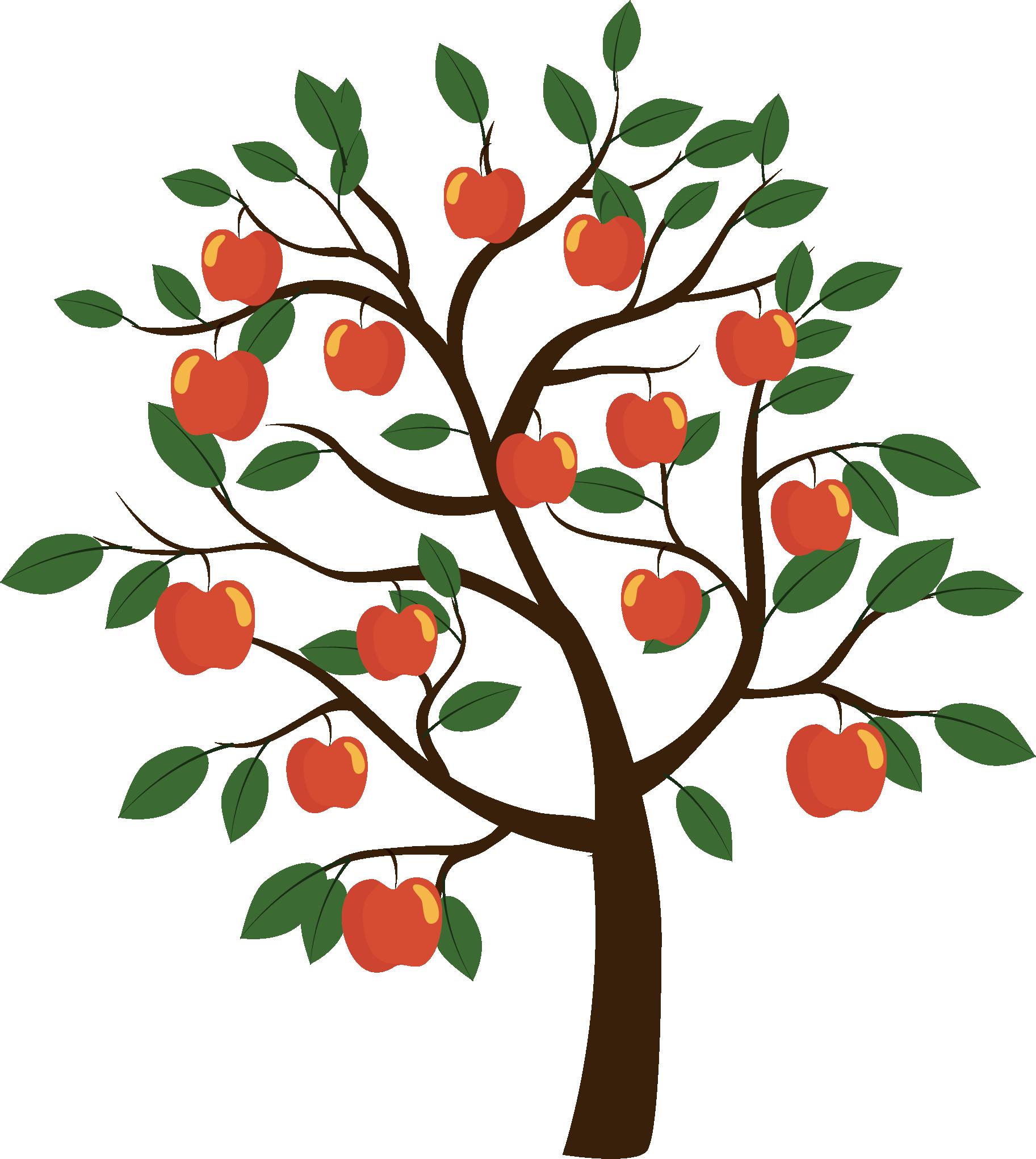 Fruit tree Euclidean vector.