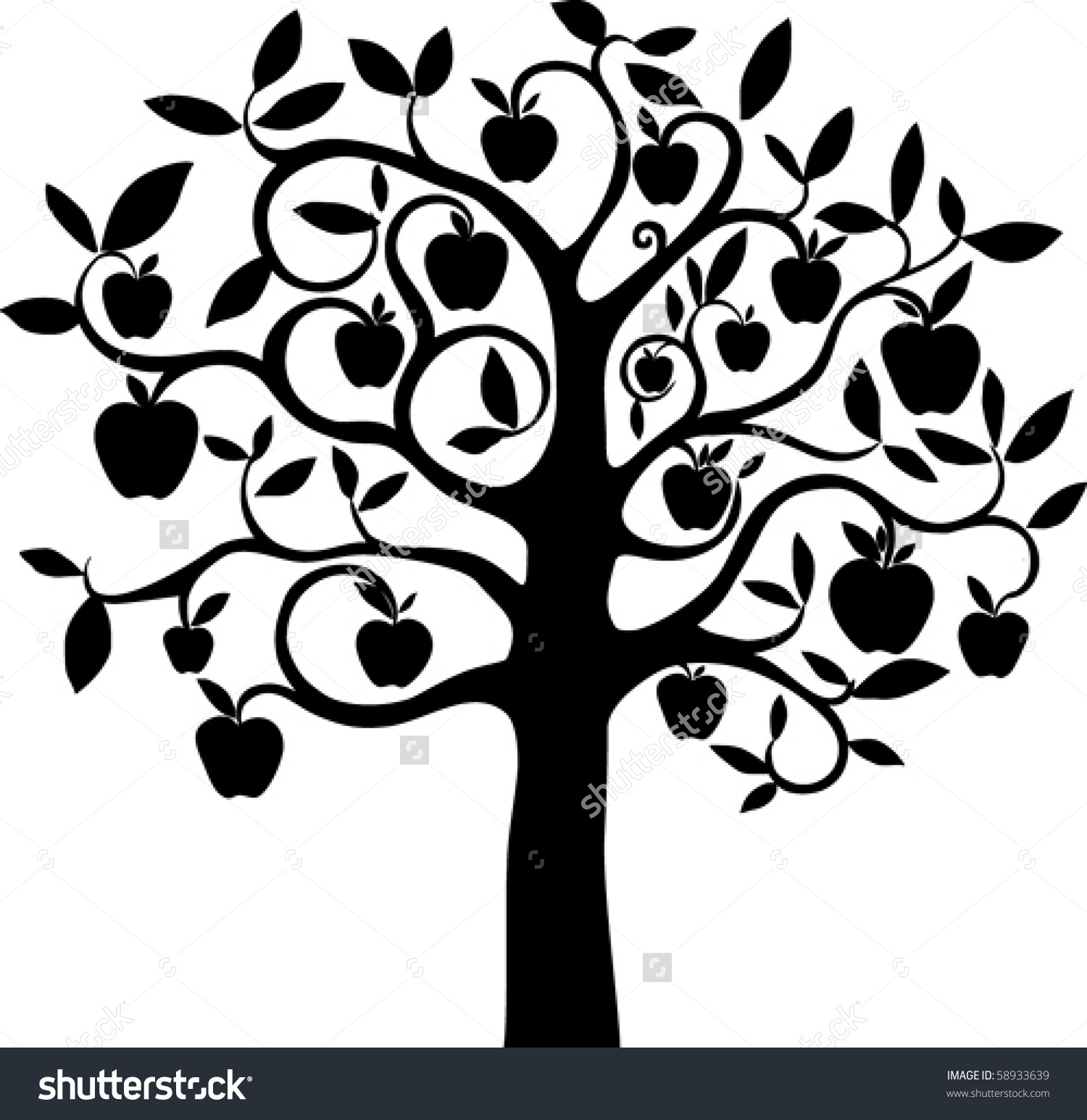 Wall Stickers Cherry Blossom Tree Apple Tree Flowers Clipart Clipground