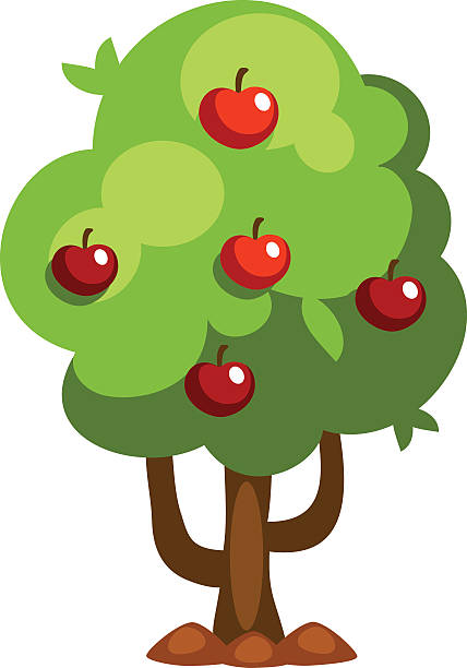 1654 Apple Tree free clipart.
