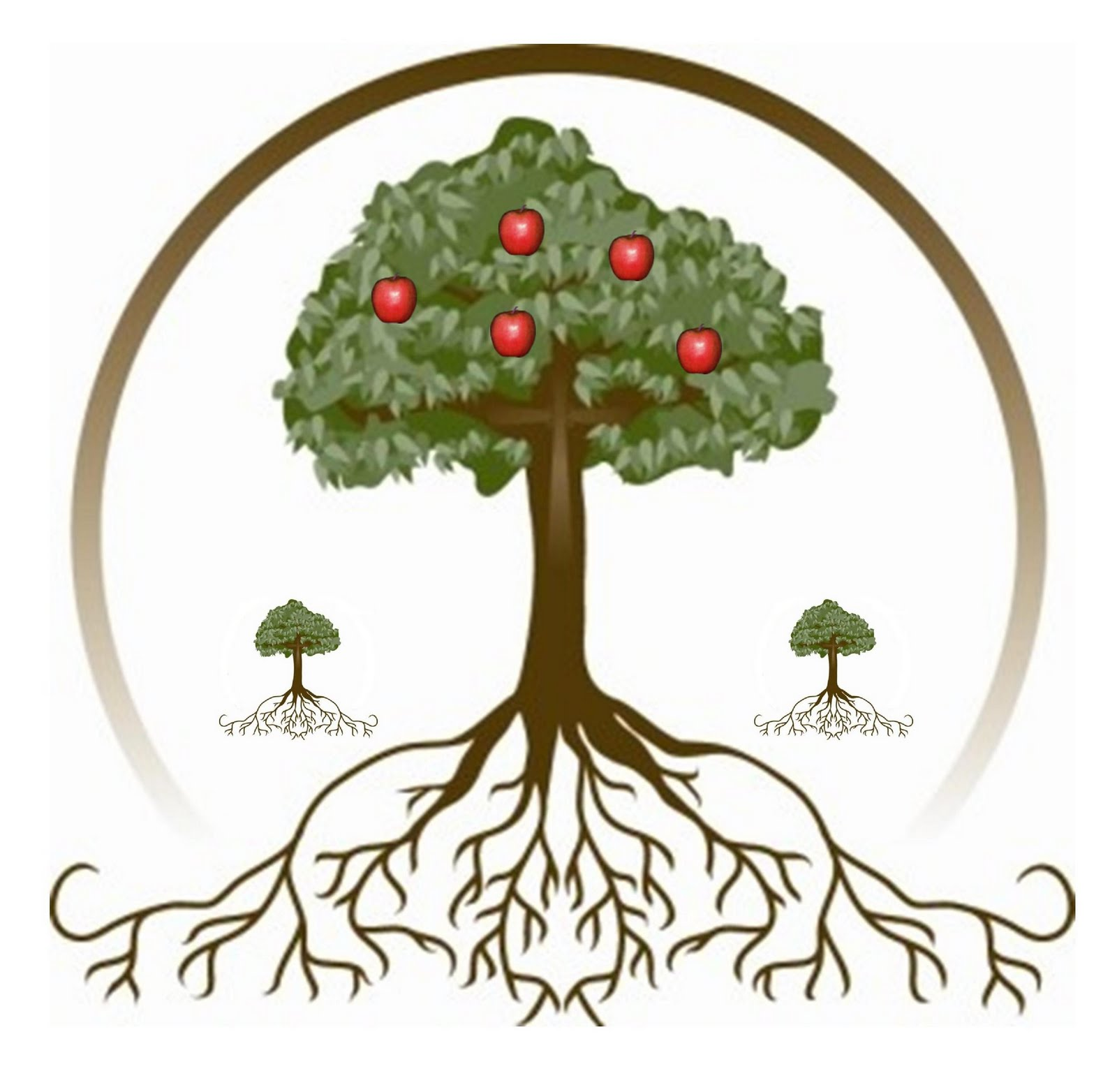 Fruit Tree With Roots Clipart.