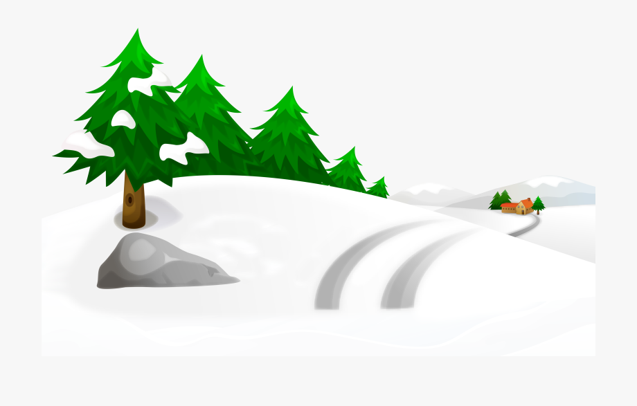 Snowy Winter Trees Clipart , Transparent Cartoon, Free.