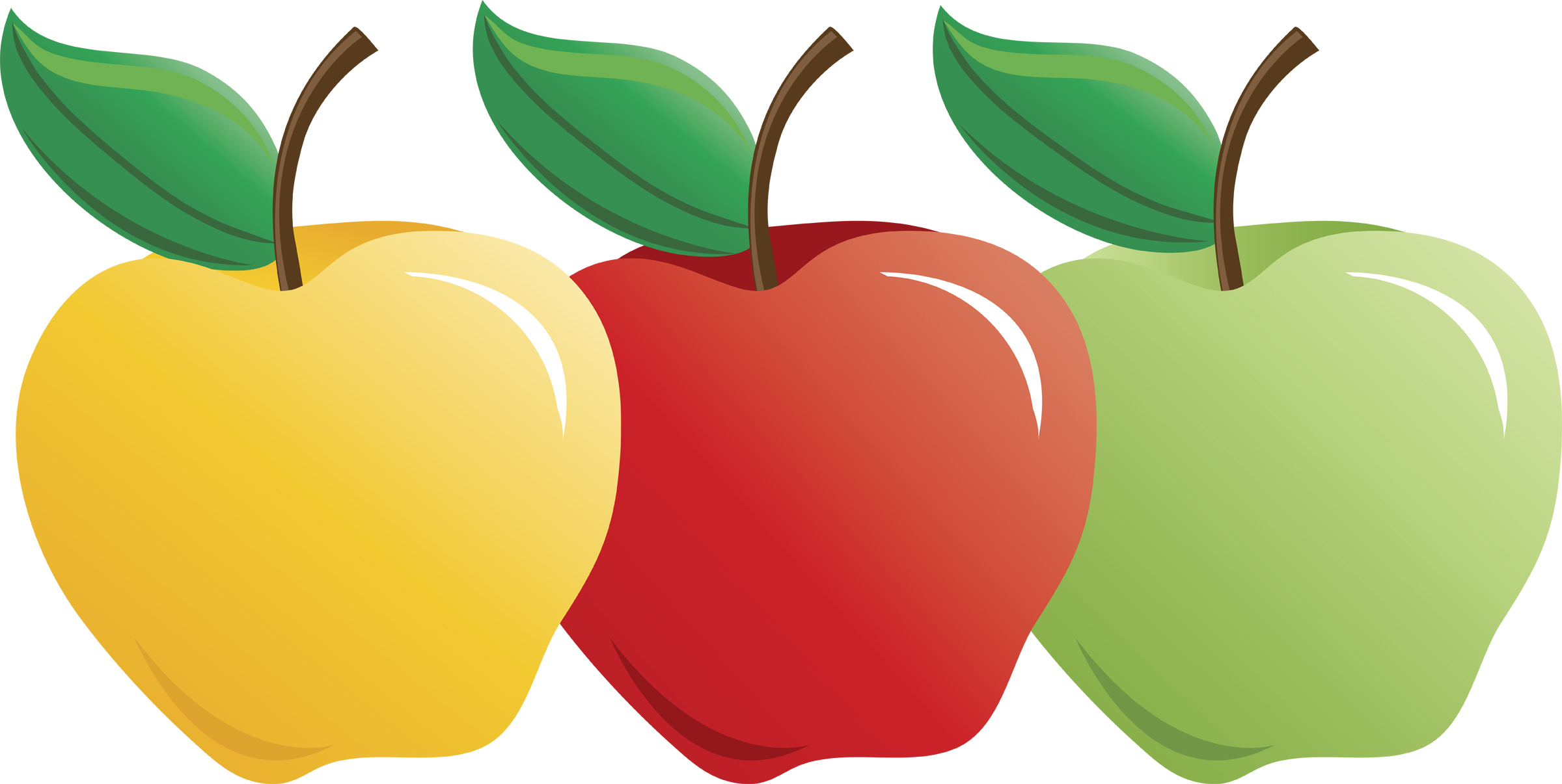 Apples to apples clipart.