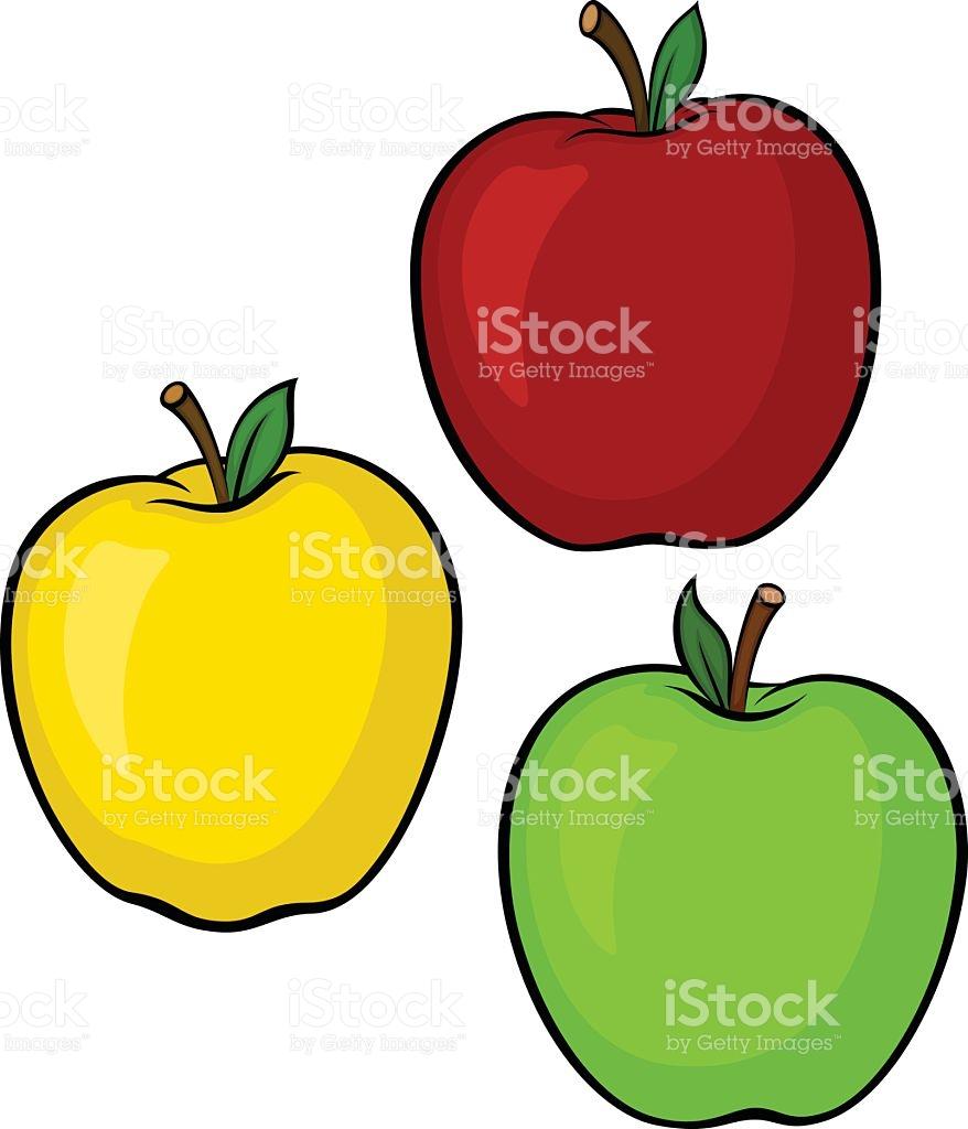 Apple Variety stock vector art 472340639.