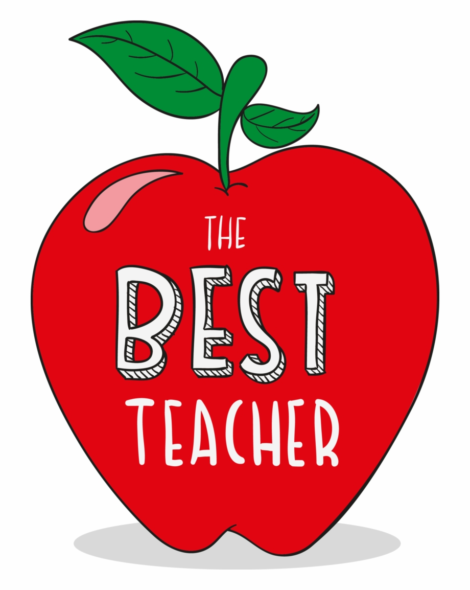 Apple Vector Teachers Student Day Red.