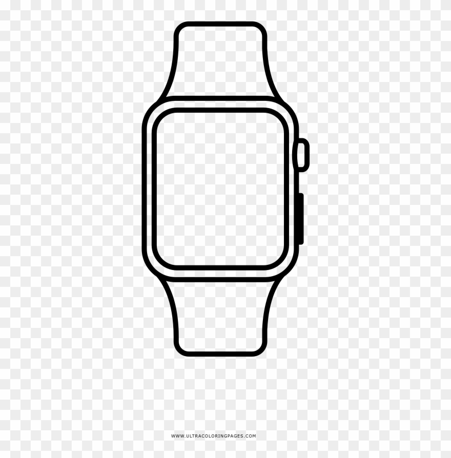 Apple Watch Coloring Page.