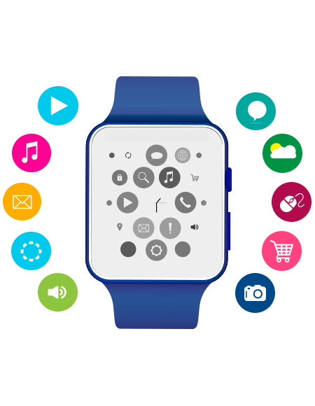 Collection of Apple watch clipart.