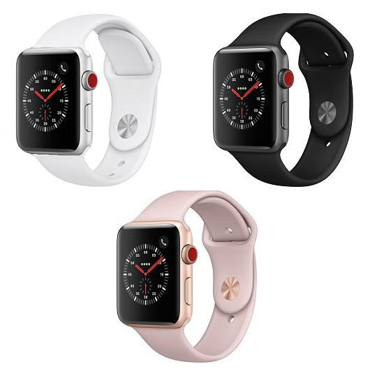 Details about Apple Watch Series 3 42mm WiFi GPS Cellular Aluminum Case  Sport Band Smart Watch.