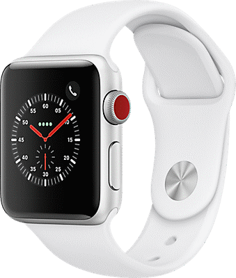 Apple® Watch Series 3 Aluminum 38mm Case with Sport Band.