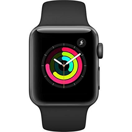 Apple Watch Series 3, GPS, Space Gray Black Sport Band, 42mm, For Parts.