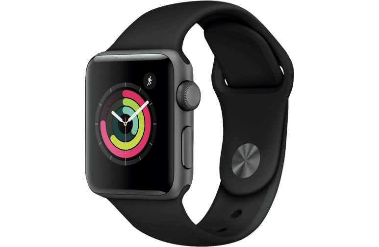 Apple MTF02X/A Watch Series 3 GPS 38mm Space Grey Aluminium Case with Black  Sport Band at The Good Guys.