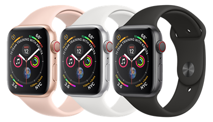 Apple Watch Series 4 GPS + Cellular.