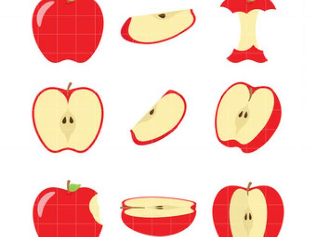 Apple Wedge Cliparts 2.