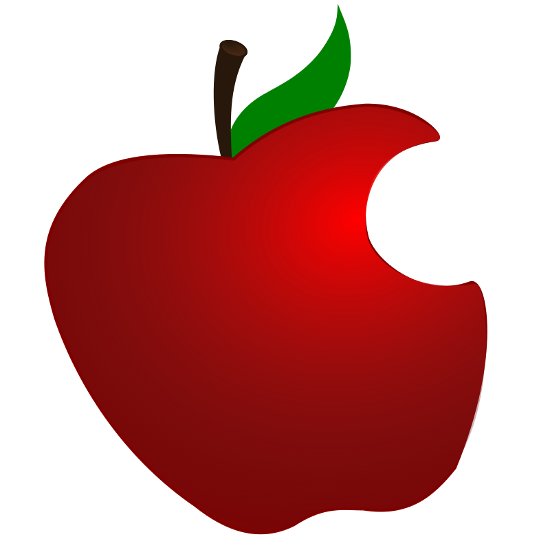 Free Clipart: Apple with Bite.