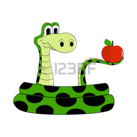 Apple And Snake Clipart.