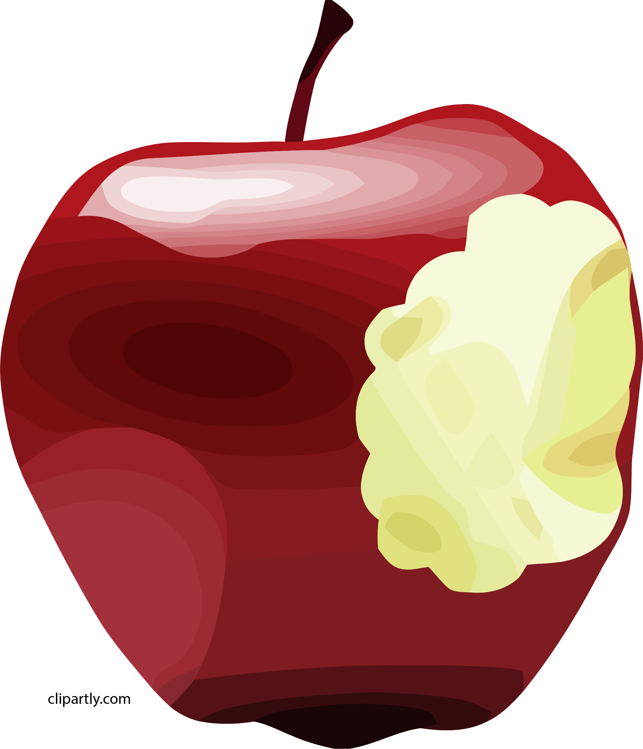 Apple Bitten Dan Gerhard Brown Apple Clipart Png.