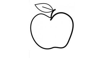 Apple Cutout for Activities.