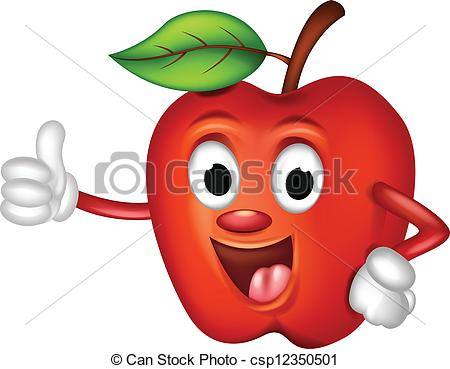 apple with eyes clipart #9
