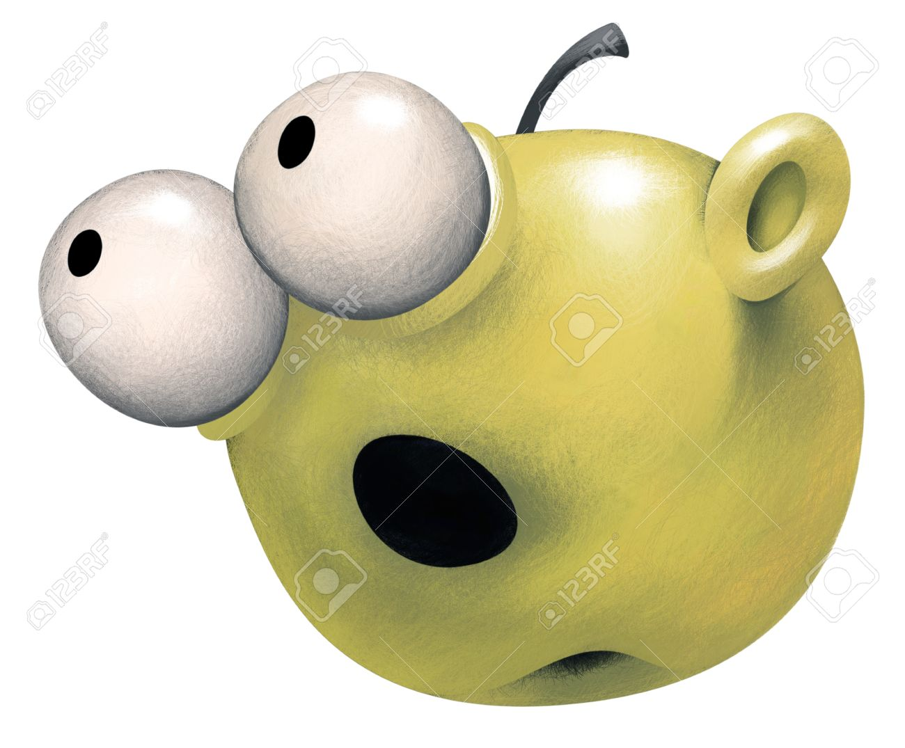 apple with eyes clipart #1