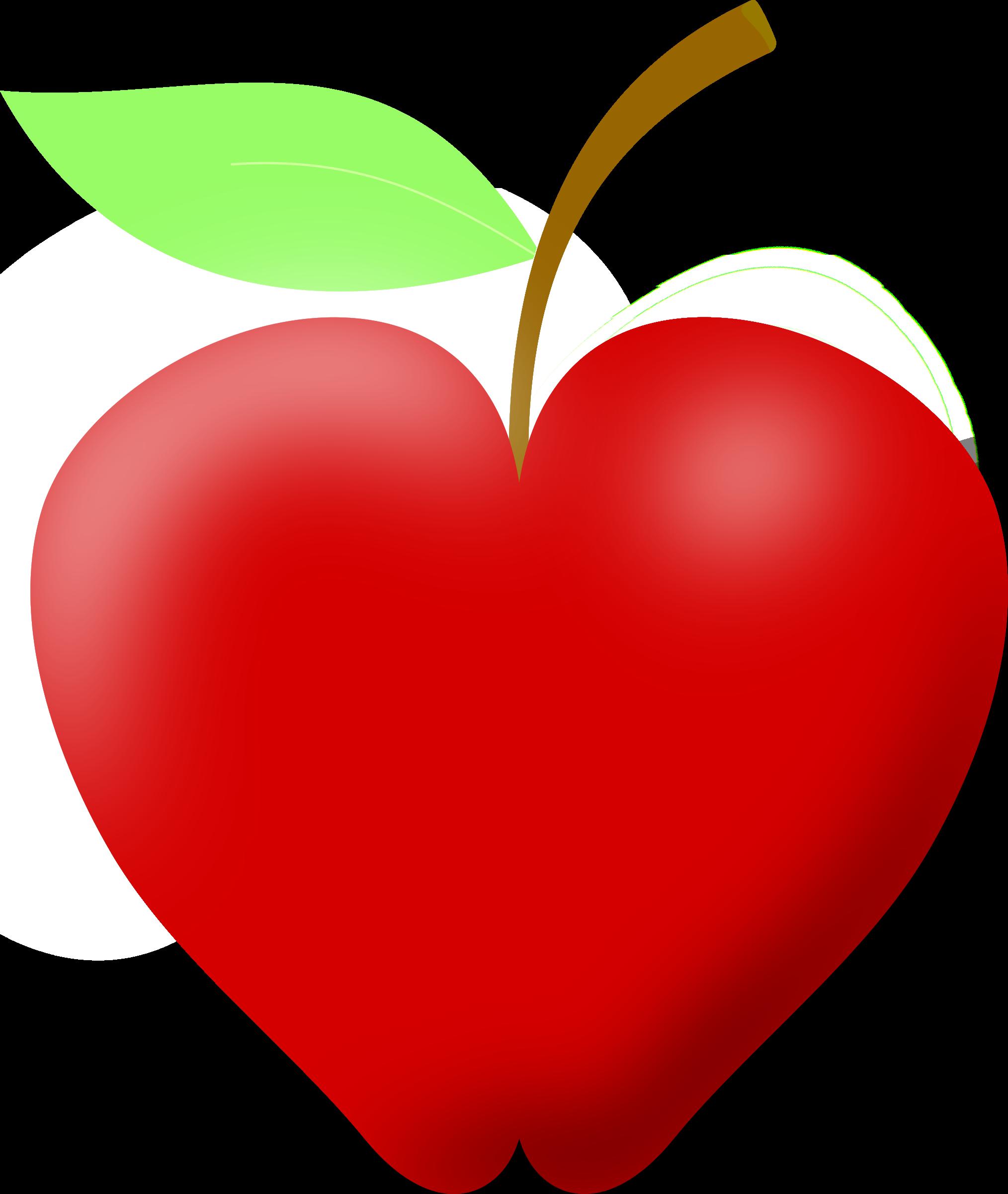 Heart clipart apple #2.