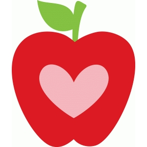 Apple heart clipart 3 » Clipart Station.