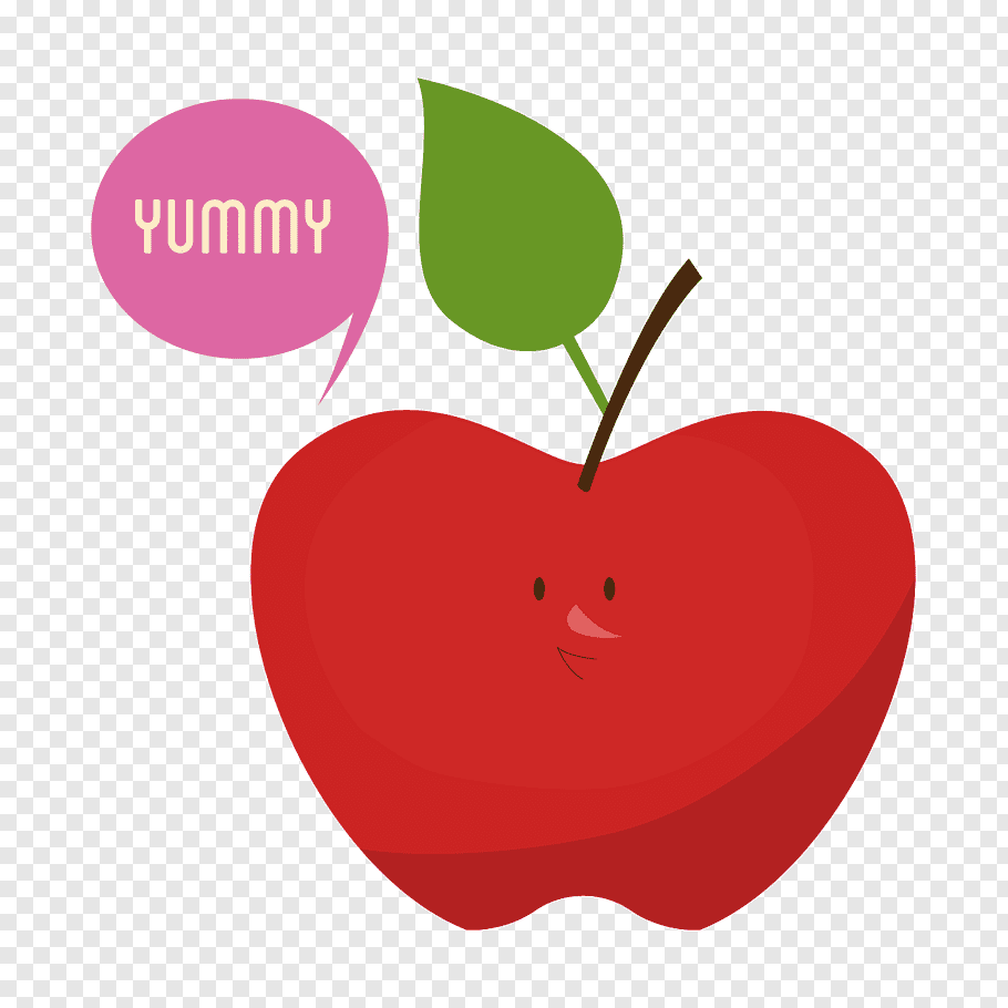 Love Background Heart, Cartoon, Fruit, Apple, Food free png.