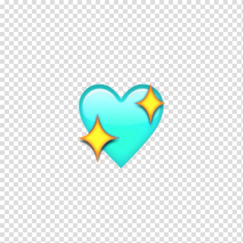 Apple Color Emoji Heart iPhone X Sticker, blushing emoji.