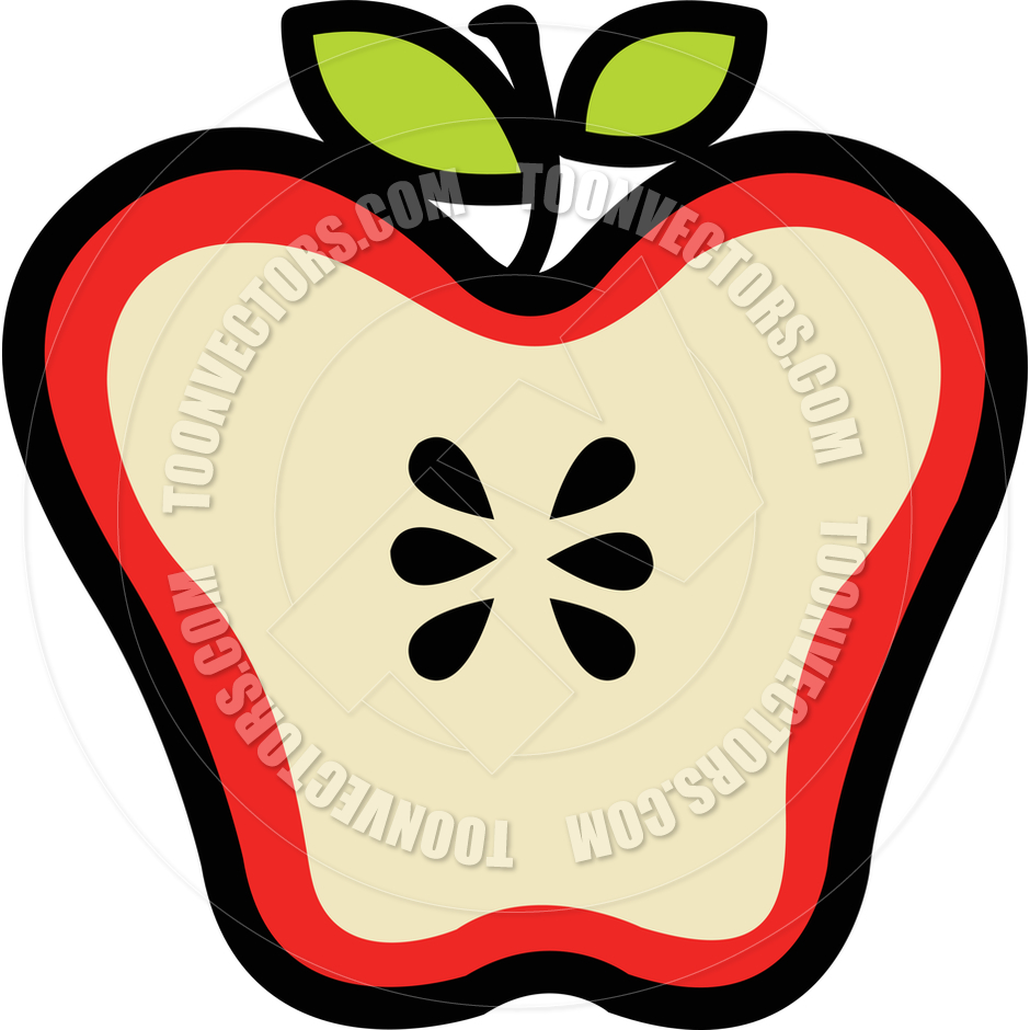 Inside Of An Apple Clipart.