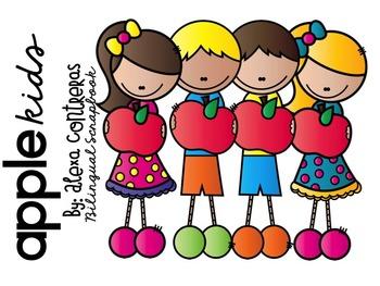 Apple Kids Clip Art FREEBIE.