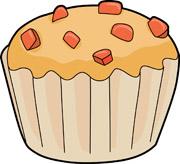 Apple Cartoon Muffin Clipart.