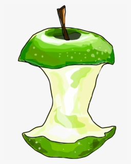 Free Apple Core Clip Art with No Background.