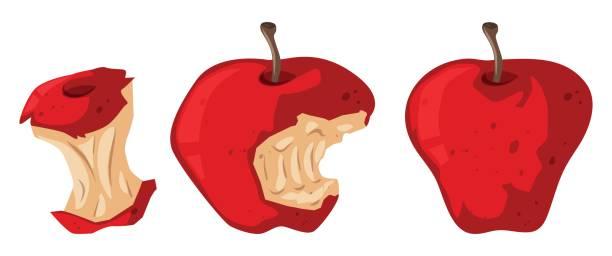 Rotting Apple Clipart.