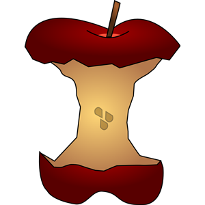 Apple Core w/ Seeds clipart, cliparts of Apple Core w/ Seeds.