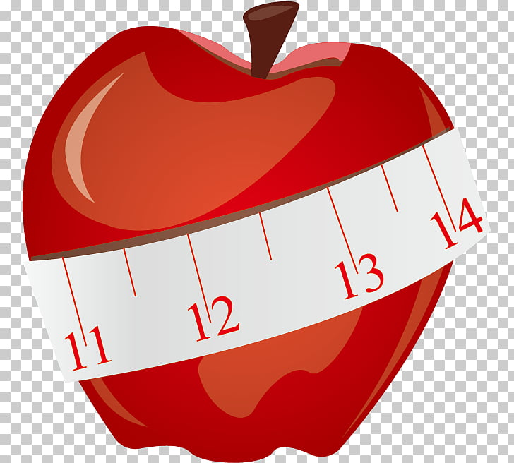 Tape measure Measurement , Apple and tape measure PNG.