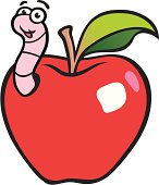 Free Apple Worm Clipart and Vector Graphics.