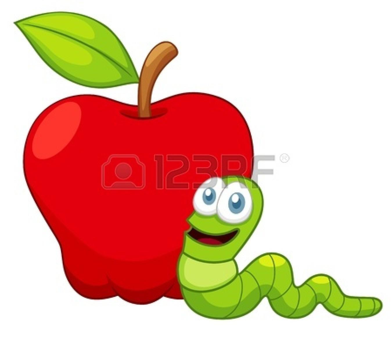 Apple Worm Clip Art.